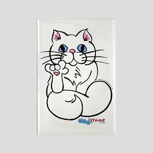 Longhair ASL Kitty Rectangle Magnet