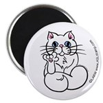 Longhair ASL Kitty Magnet