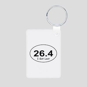"""26.4 """"I Got Lost"""" Aluminum Photo Keychain"""