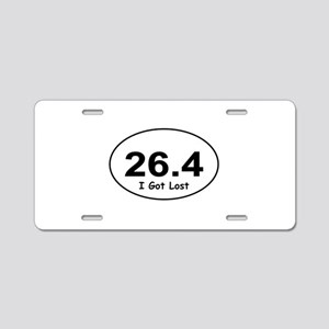 "26.4 ""I Got Lost"" Aluminum License Plate"