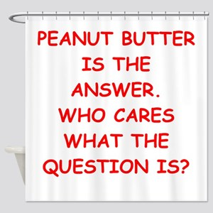 PEANUT BUTTER Shower Curtain
