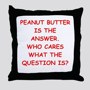 PEANUT BUTTER Throw Pillow