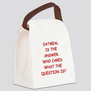 oatmeal Canvas Lunch Bag