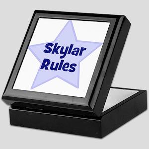 Skylar Rules Keepsake Box