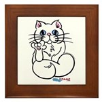 Longhair ASL Kitty Framed Tile