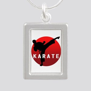 KARATE keri 1 Silver Portrait Necklace