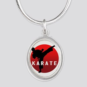 KARATE keri 1 Silver Oval Necklace