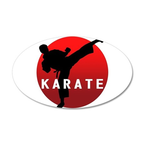 KARATE keri 1 20x12 Oval Wall Decal & Martial Arts Wall Decals - CafePress
