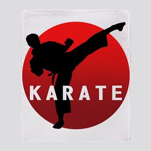 KARATE keri 1 Throw Blanket