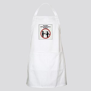 Stupidity will be dealt with a halligan Apron
