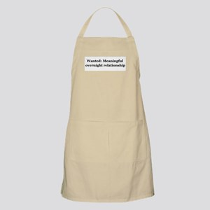 Meaningful Relationship BBQ Apron