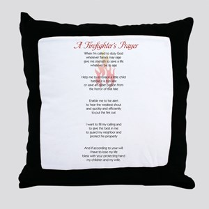 Firefighter's Prayer Throw Pillow