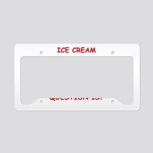 ice cream License Plate Holder