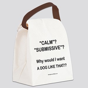 Who Wants Calm?! Canvas Lunch Bag