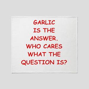 garlic Throw Blanket