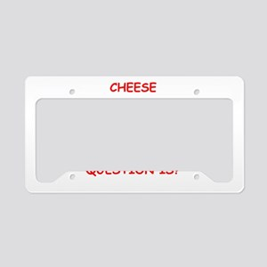 cheese License Plate Holder
