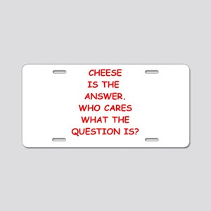cheese Aluminum License Plate