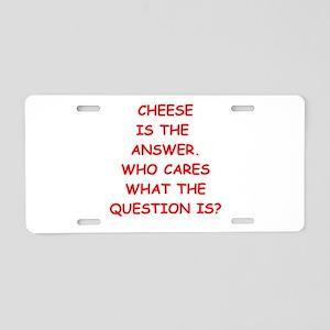 cheese Aluminum License Plate