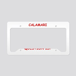 calamari License Plate Holder