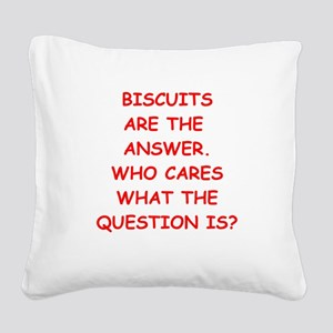 biscuits Square Canvas Pillow