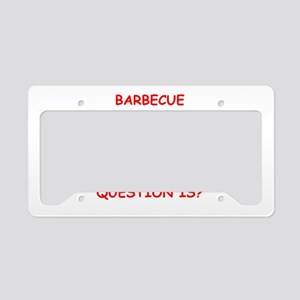 barbecue License Plate Holder