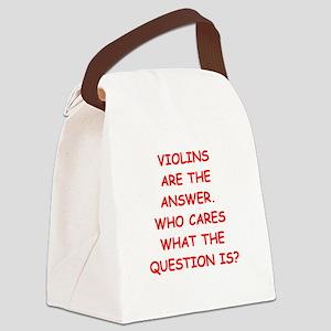 violins Canvas Lunch Bag
