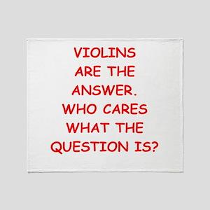 violins Throw Blanket