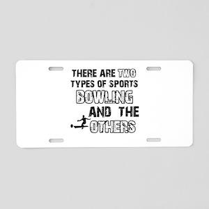 Bowling designs Aluminum License Plate