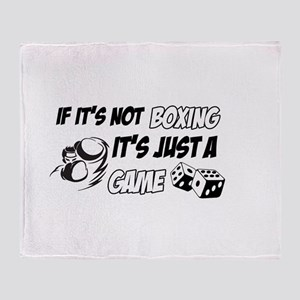 Boxing lover designs Throw Blanket
