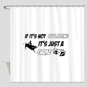 Bull Riding lover designs Shower Curtain