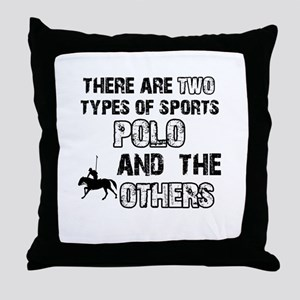 Polo designs Throw Pillow