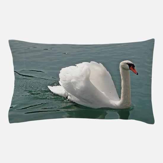 Reflective white swan Pillow Case