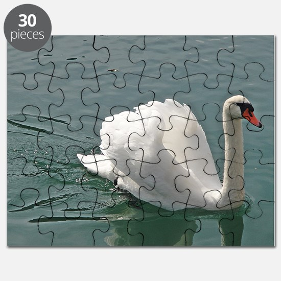 Reflective white swan Puzzle