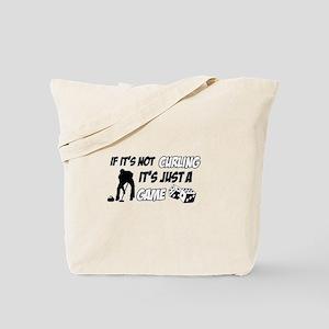 Curling lover designs Tote Bag
