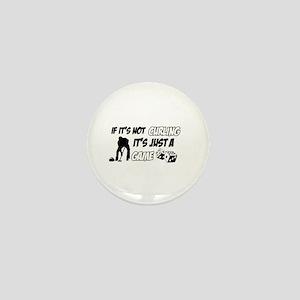 Curling lover designs Mini Button