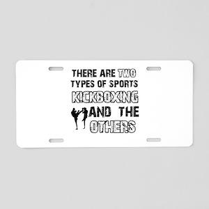 Kickboxing designs Aluminum License Plate