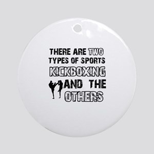 Kickboxing designs Ornament (Round)