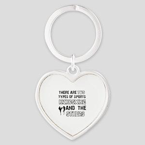 Kickboxing designs Heart Keychain