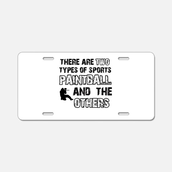 Paintball Designs Aluminum License Plate