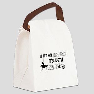 Horse Polo lover designs Canvas Lunch Bag