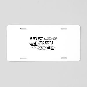 Team Roping lover designs Aluminum License Plate