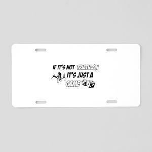 Triathlon lover designs Aluminum License Plate