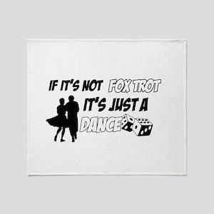 Foxtrot lover designs Throw Blanket