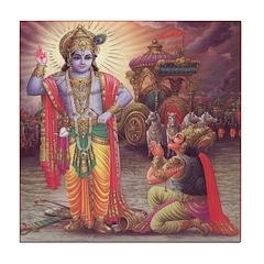 Krishna 4 Tile Coaster