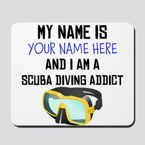 Custom Scuba Diving Addict Mousepad