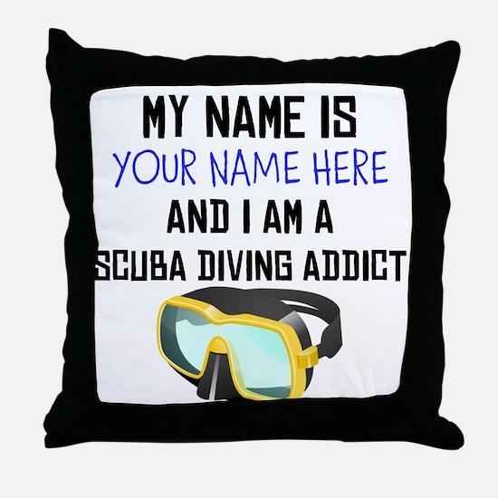 Custom Scuba Diving Addict Throw Pillow