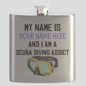 Custom Scuba Diving Addict Flask