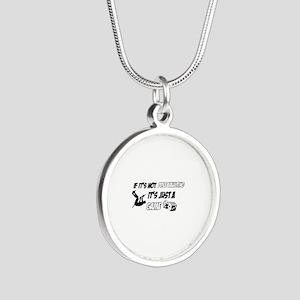 Pole Vault lover designs Silver Round Necklace