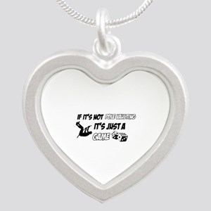 Pole Vault lover designs Silver Heart Necklace