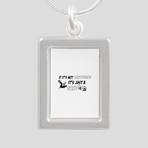 Pole Vault lover designs Silver Portrait Necklace
